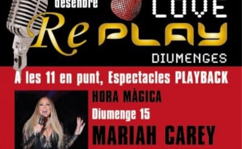 Diumenge 15-12: Tarda de música i ball a Replay !!!