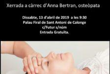 Dissabte 13-4  Teràpia Cràneo-Sacral  (osteòpata)